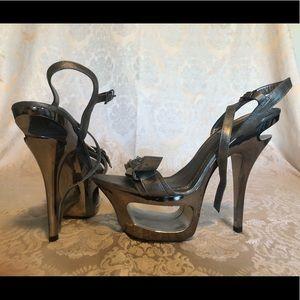 Two Lips Venus high heel platform sandal.